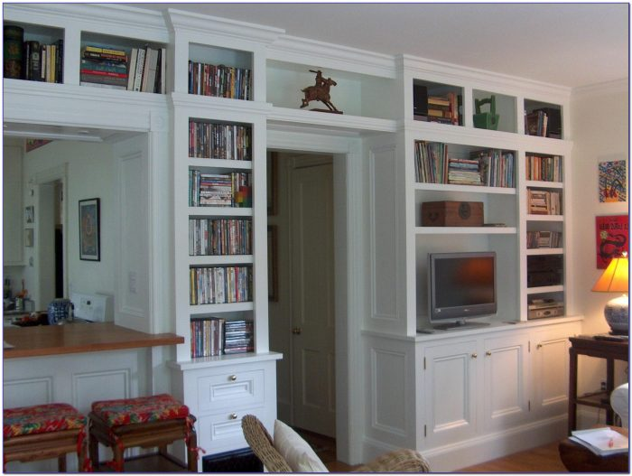 Bookcase Cabinet With Ladder