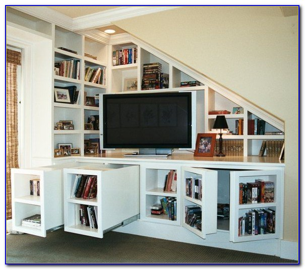 Bookcase Entertainment Center Ideas