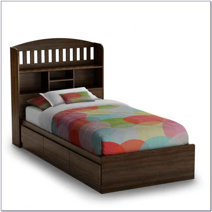 Bookcase Twin Bed Storage