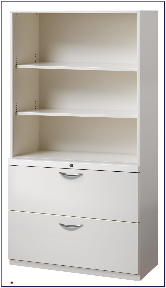 Bookcase With Cabinet White