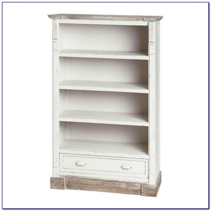 Bookcase With Drawers White