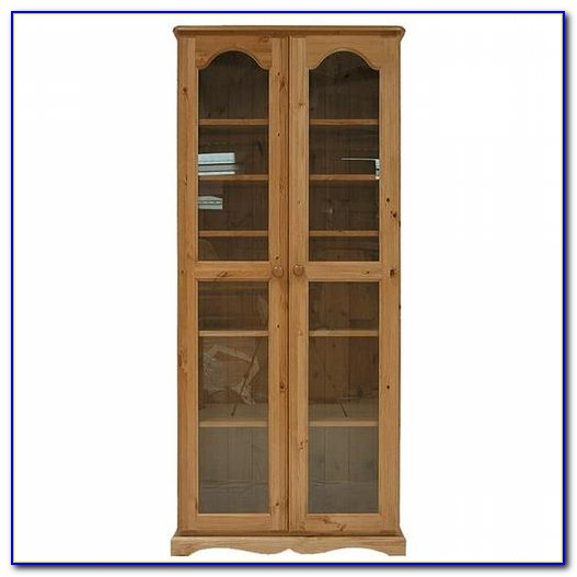 Bookcase With Glass Doors And Lock