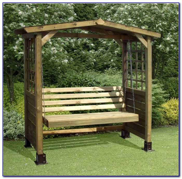 B&q Wooden Garden Swing Bench