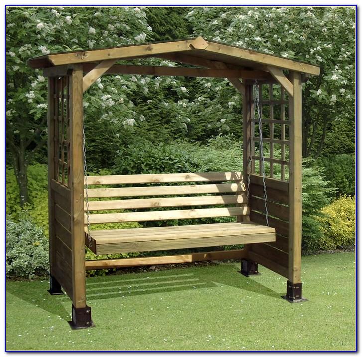 B&q Wooden Garden Swing Bench