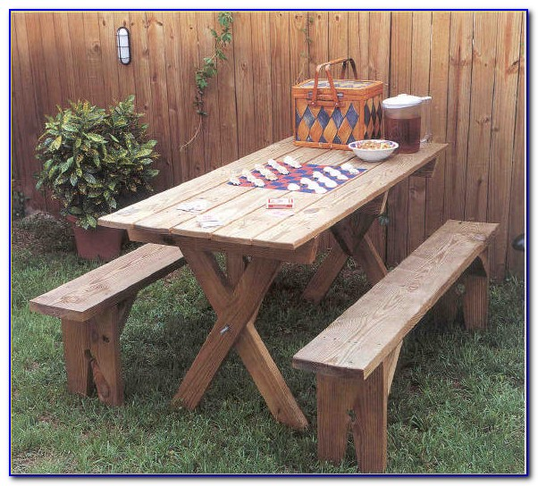 Building A Picnic Table Bench