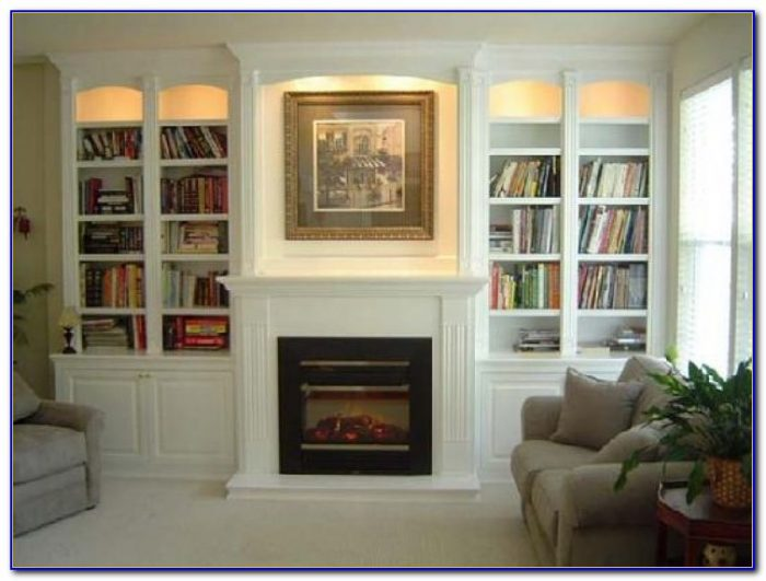 Built In Bookcases Next To Fireplace