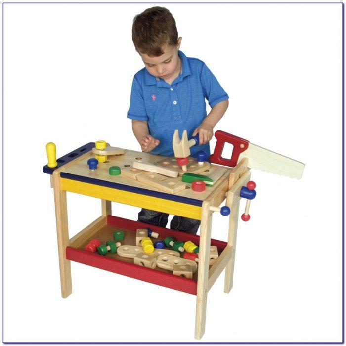 Childrens Wooden Workbench