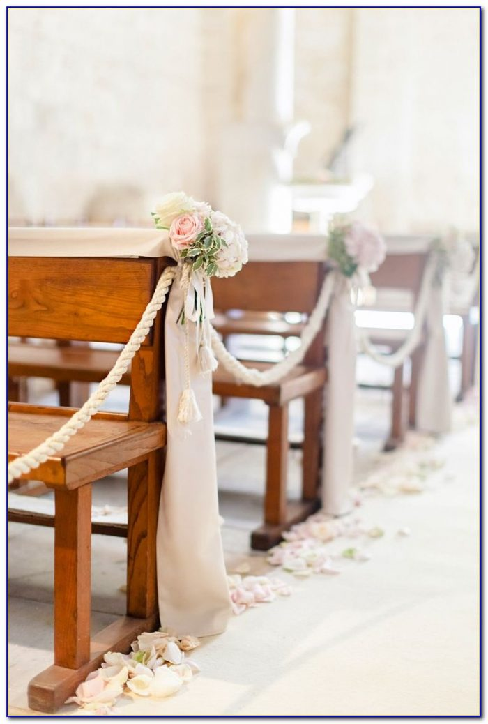 Church Pew Decorations For Weddings Bows
