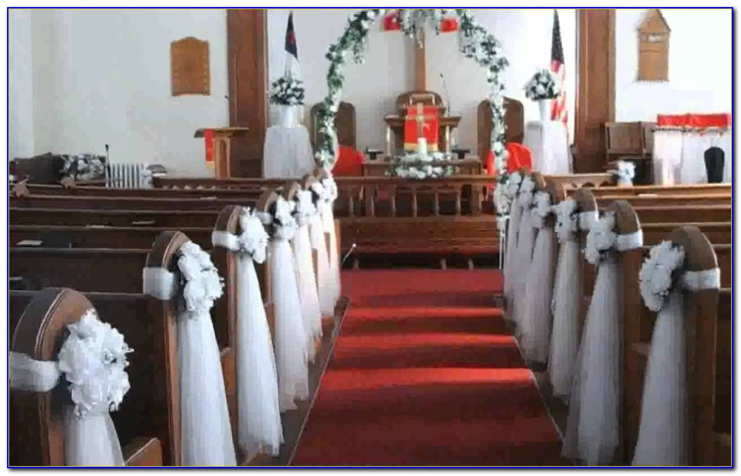 Church Pew Wedding Decorations Uk