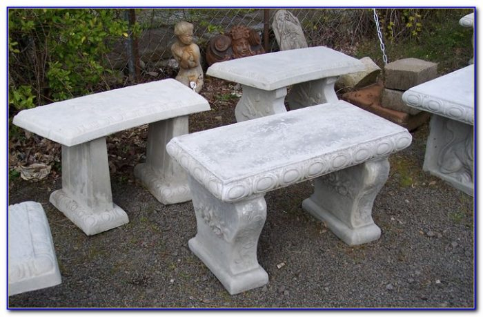 Concrete Table And Benches Weight