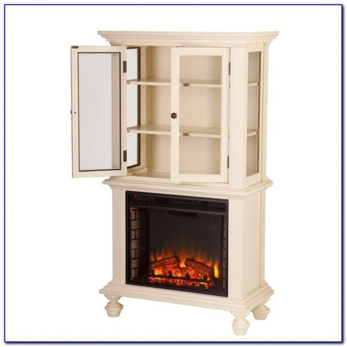 Electric fireplace with bookcases espresso bookcase for Bookcases next to fireplace
