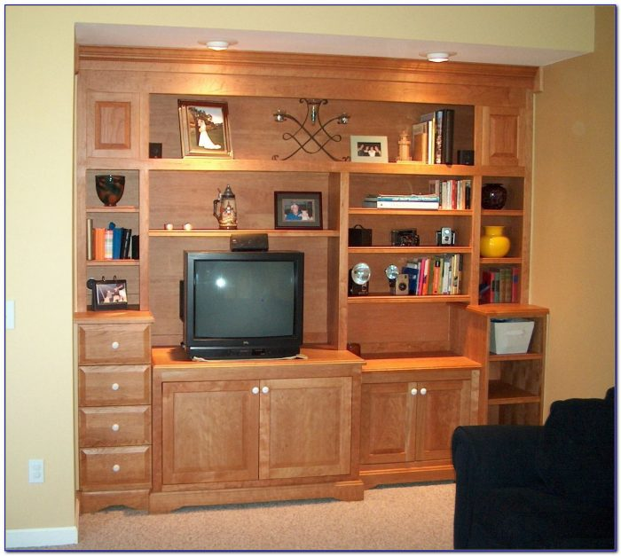Corner Entertainment Center With Bookcases