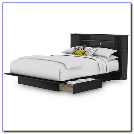 Cypress Queen Storage Bed With Bookcase Headboard