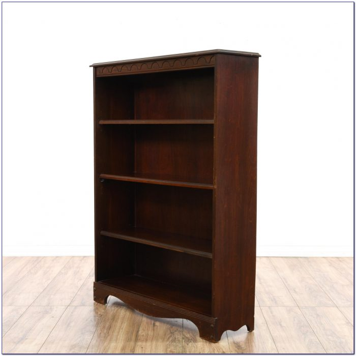 Dark Wood Bookshelf Bookcase Home Design Ideas