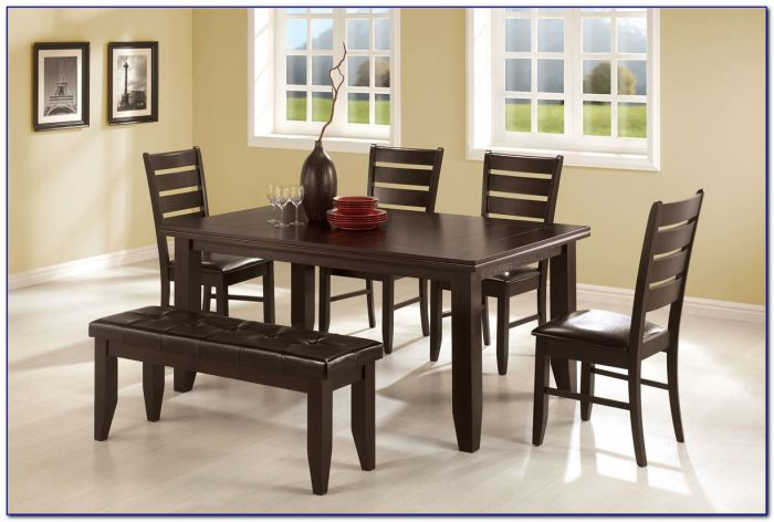 Dining Room Table And Bench Sets