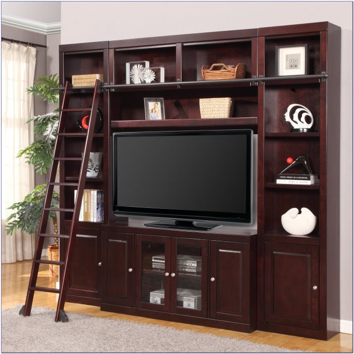 Diy Entertainment Center With Bookcases