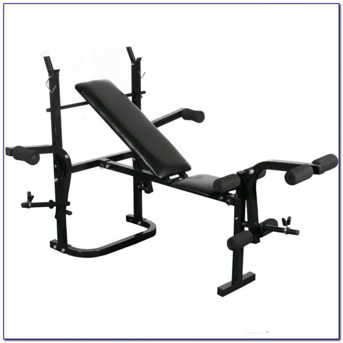 Dumbbell Barbell And Bench Set