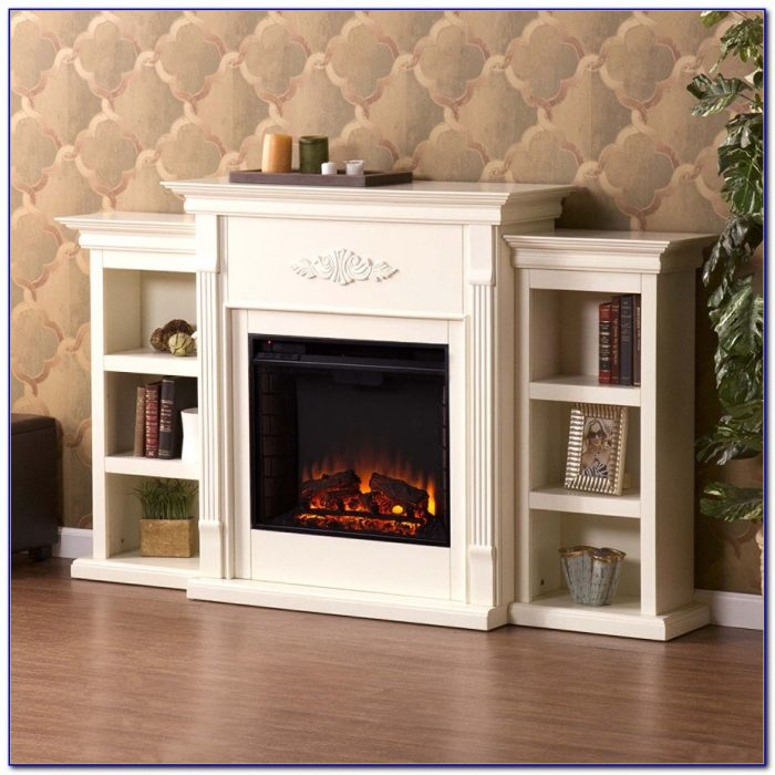 Electric Fireplace With Bookcases Espresso Bookcase
