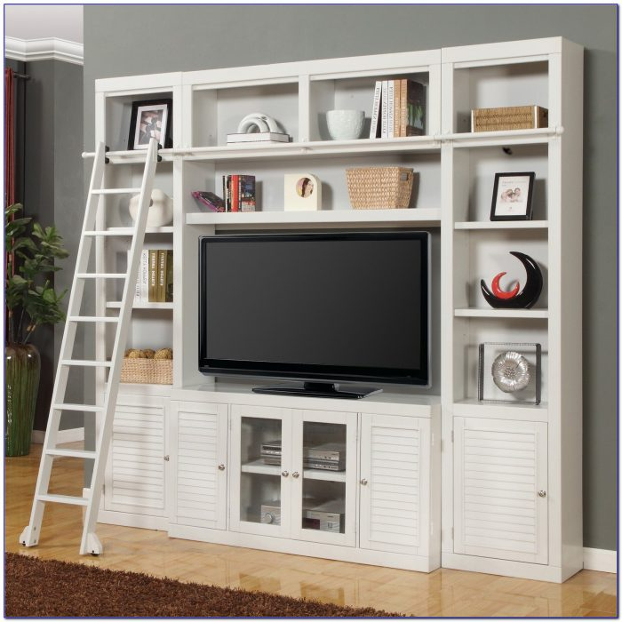Entertainment Center With Bookcases