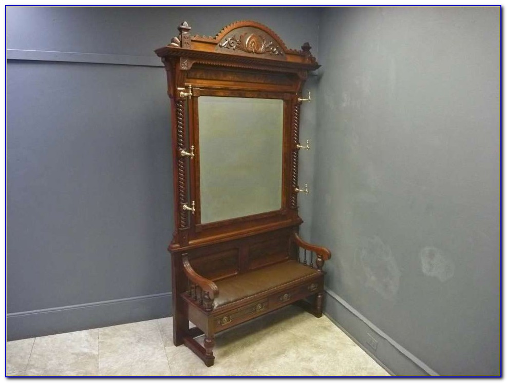 Entryway Bench With Mirror