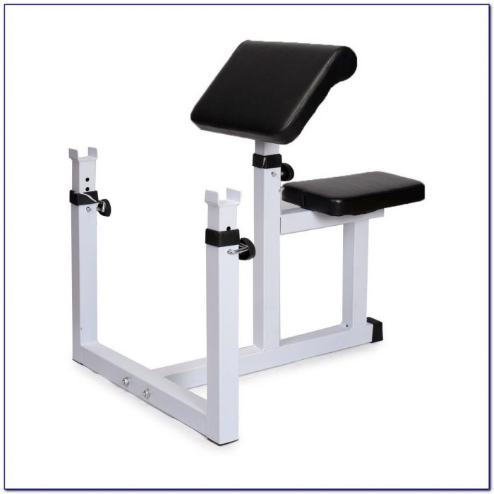 Exercise Bench With Preacher Curl