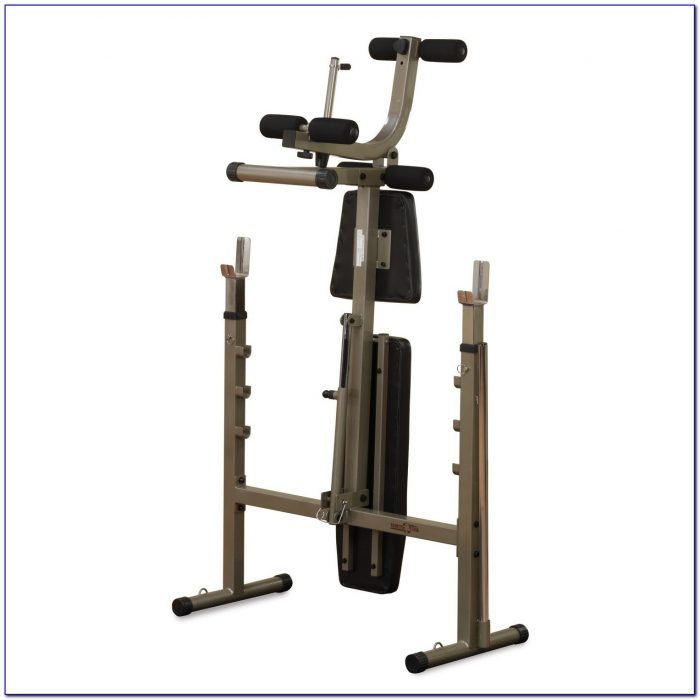 Folding Bench Press Weight Bench With Adjustable Barbell Stands Versatile Space Saving