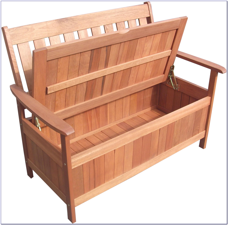 Garden Wooden Bench With Storage