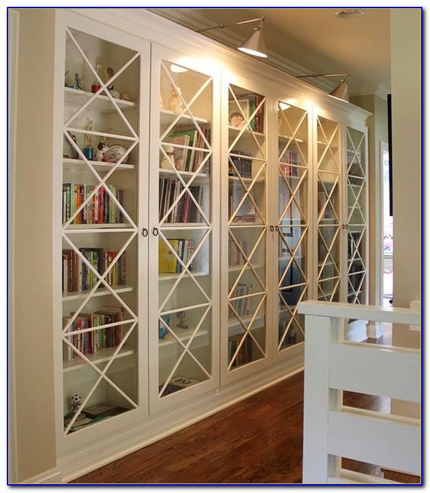 Glass Door Bookcase White