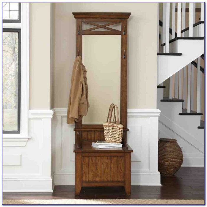 Hall Bench With Mirror