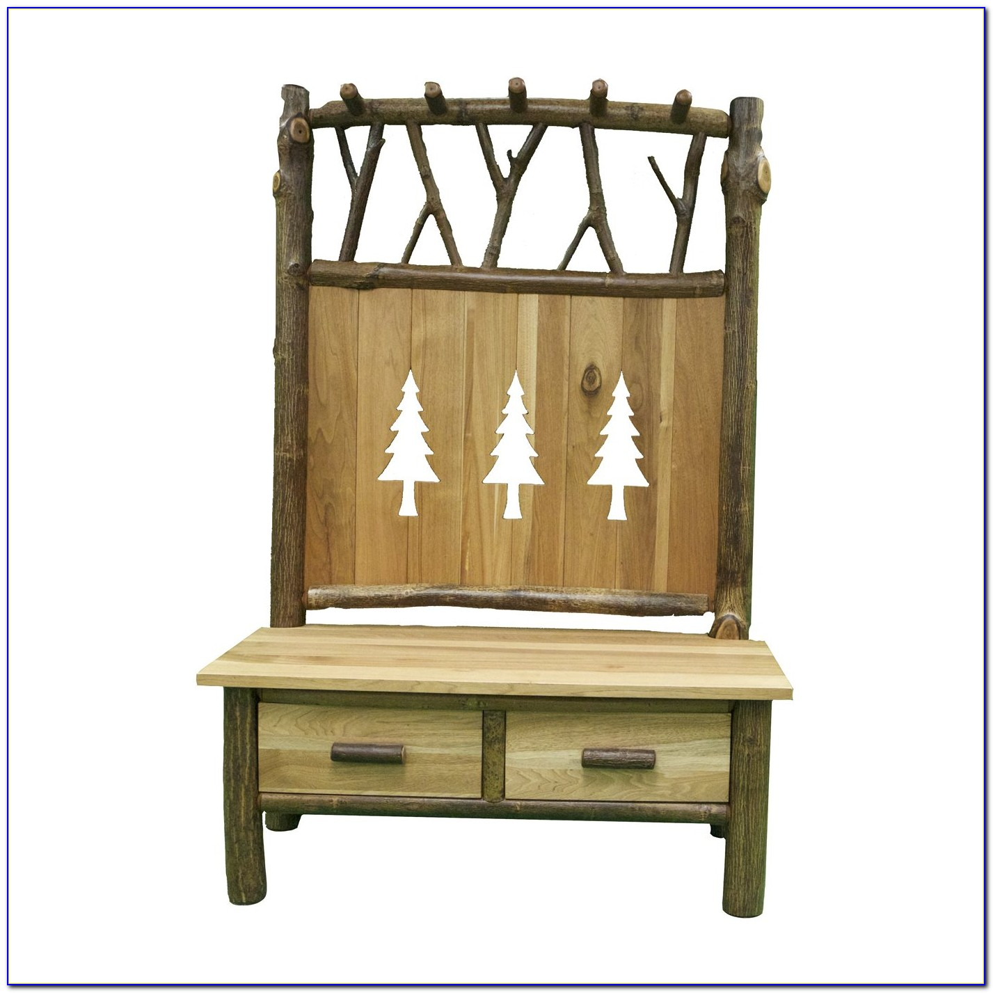 Hall Mirror Coat Stand With Bench
