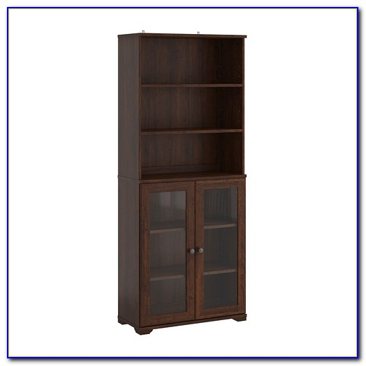 Ikea White Billy Bookcase With Doors