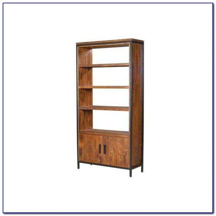 Industrial Wood And Metal Bookcase