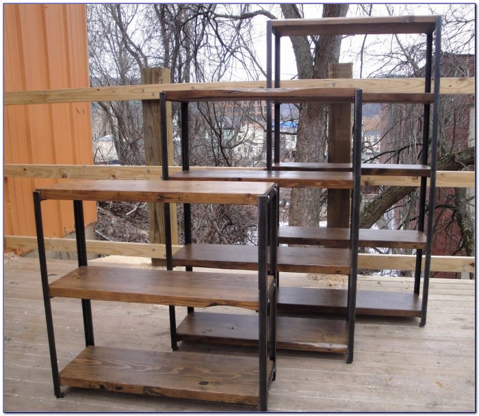 Iron And Wood Bookcase Diy