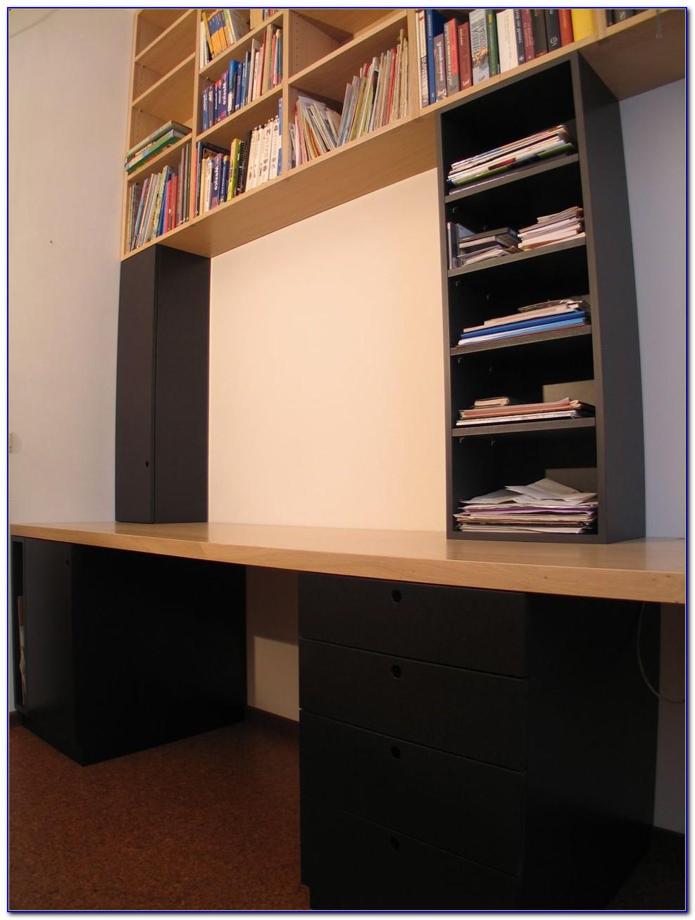 Ladder Bookcase Desk Combo