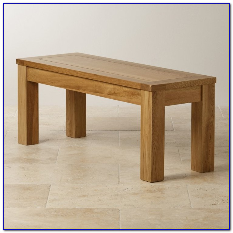 Large Oak Table And Benches