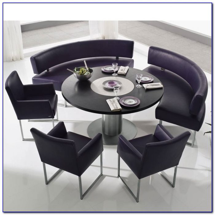 Large Round Dining Table With Bench Seating