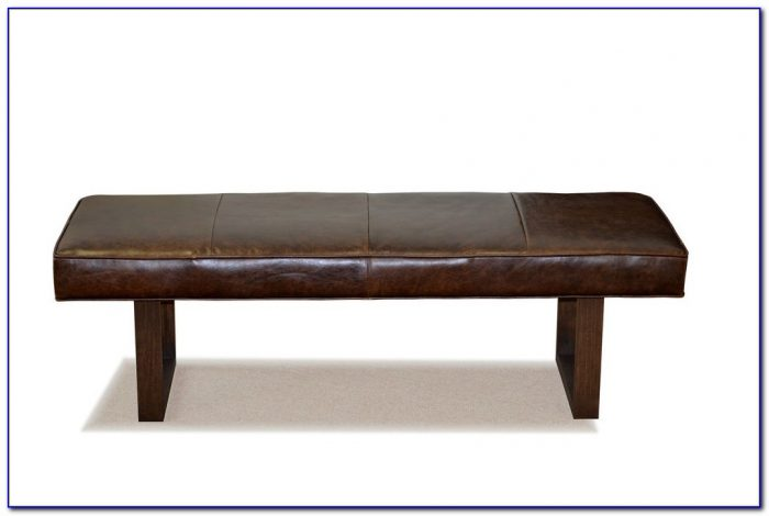 Leather Storage Bench Coffee Table