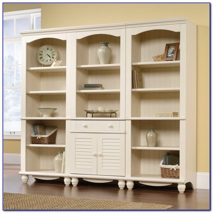 Library Bookcase Wall Unit With Ladder