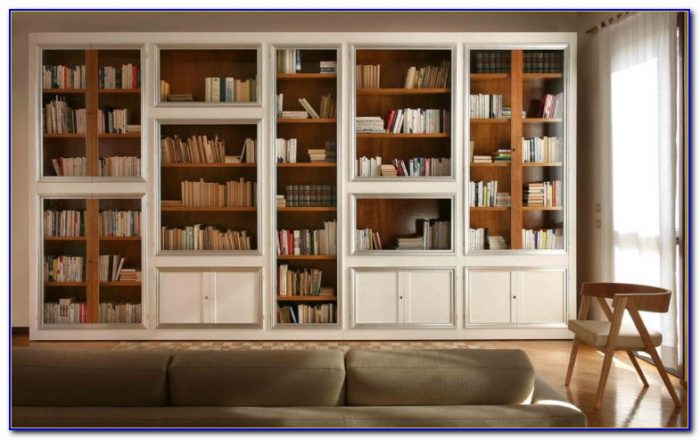 Library Bookcase With Doors White