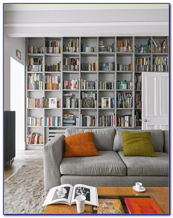 Living Room Bookcase Decorating Ideas