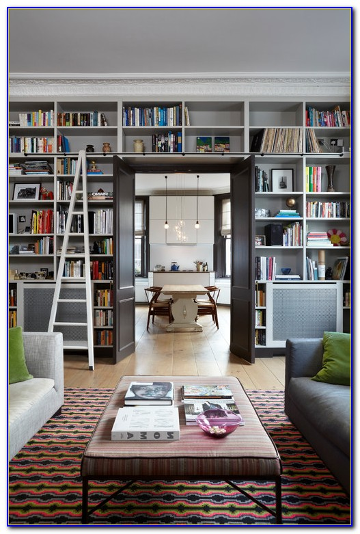 Living Room Bookcases With Doors