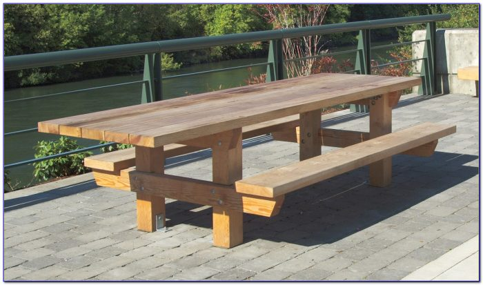 Making A Bench Picnic Table