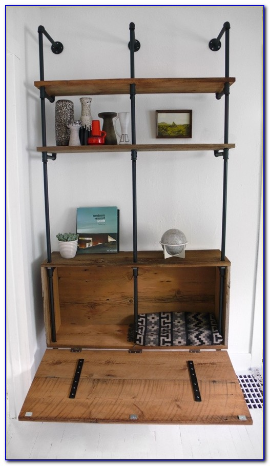 Metal And Wood Bookcases