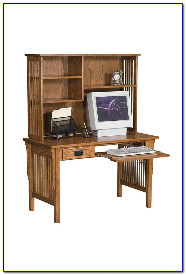 Metal Computer Desk With Bookcase