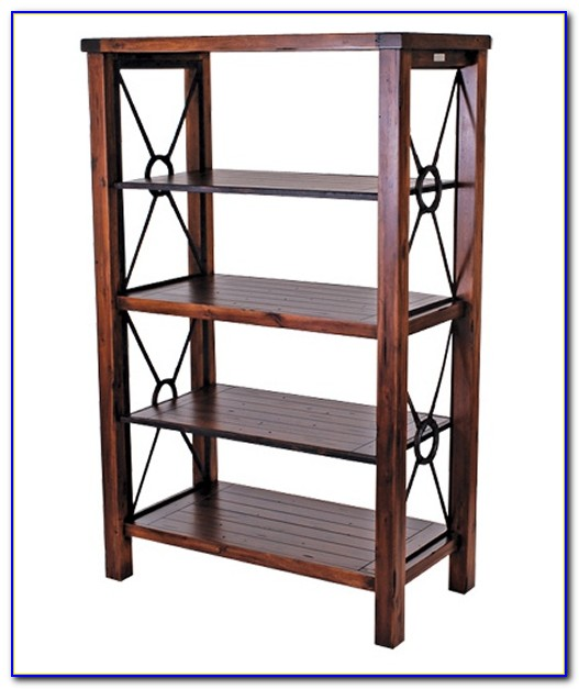 Metal Pipe And Wood Bookcase