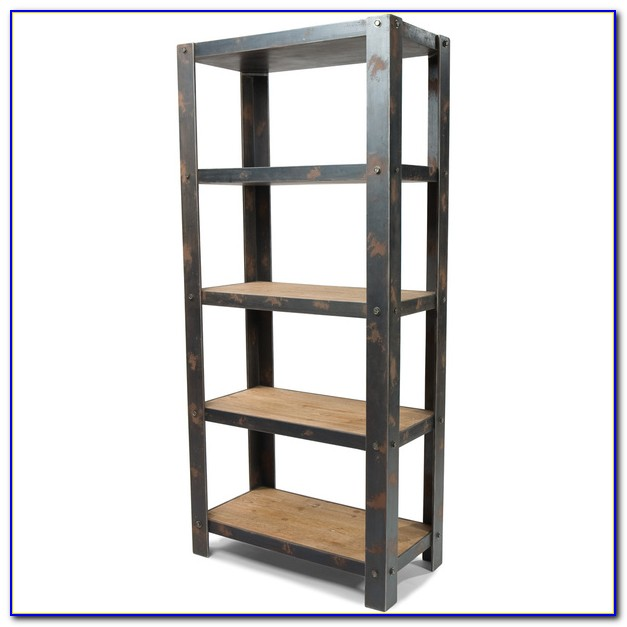 Metal Wooden Bookcase