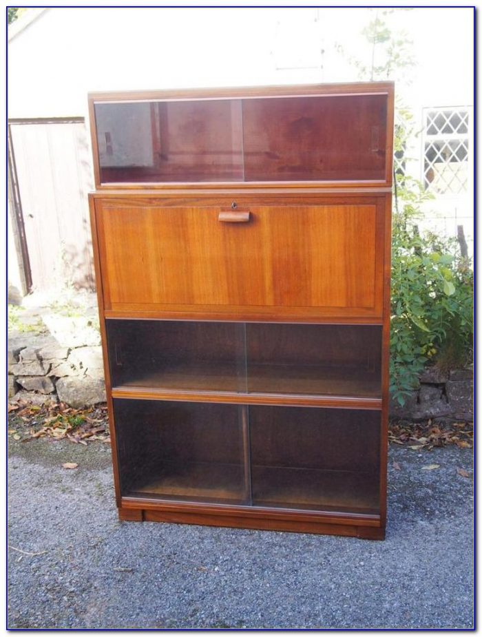 Mid Century Bookcase With Glass Doors
