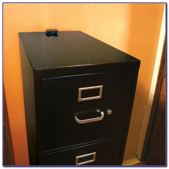 Modern Bookcase With File Cabinet