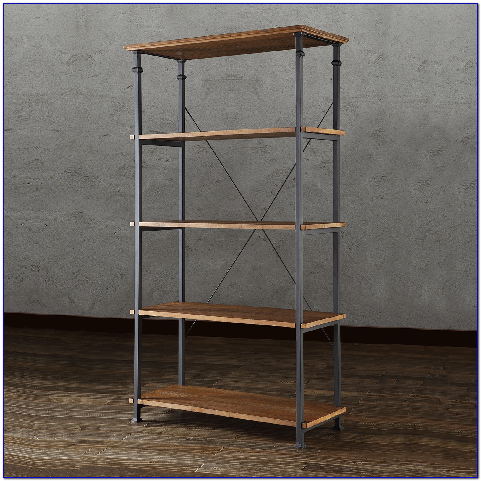 Natural Solid Wood Bookcase