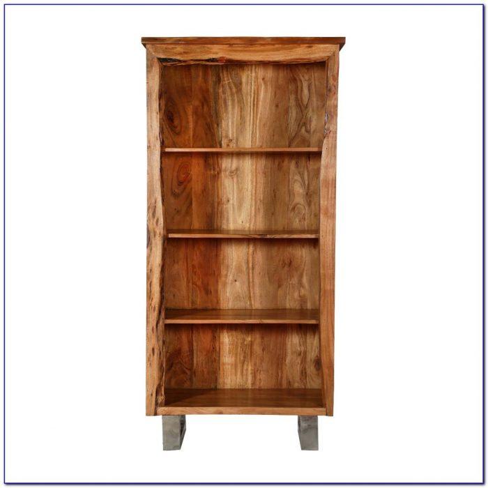 Natural Wood Corner Bookcase